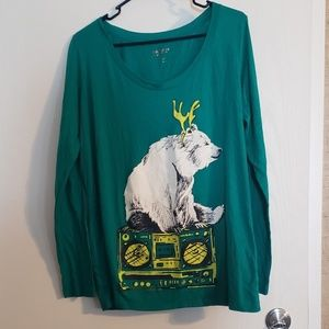 Silly Long Sleeved Polar Bear Top